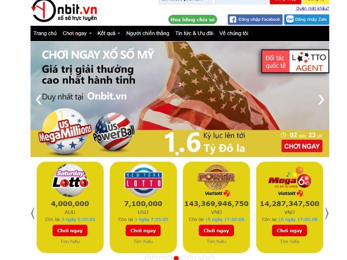mua vietlott online tại ứng dụng Onbit